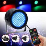 Оригинал 20W 88 LED RGB Звуковое управление Диммируемый свет этапа DMX512 Лазер Проектор Лампа с Дистанционное Управление