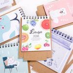 Оригинал 1 шт 2018 мини-мультфильм календарь симпатичный творческий милый стол календарь настольный календарь офиса Школа