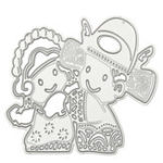 Оригинал Lucky Dolls Fortune Шаблон Scrapbooking DIY Альбомная книга Paper Diary Craft Maker Metal Cutting Die