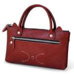 Оригинал ЖенскоеволовьякожаPhoneСумкаЗастежка-молнияКарманная милая сумка для муфты Сумка