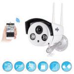 Оригинал Hiseeu720P1.0MPWiFiIPP2P камера Пуля На открытом воздухе SD Card Storage CCTV Surveillance IR камера