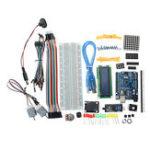 Оригинал UNO R3 Стартер Набор 1602 LCD L293D Мотор LED Матрица MB102 Макетная Для Arduino