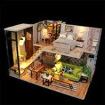 Оригинал Hoomeda M030 Наслаждайтесь Romatic Europe DIY Дом с мебелью Музыкальная обложка Миниатюрная декоративная игрушка