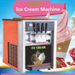 Оригинал AC 110V / 220V 3 Flavor Steel Commercial Замороженные Soft Машина для производства конусов для мороженого