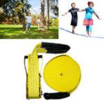 Оригинал 50ftSlacklinesНаоткрытомвоздухеExtreme Sport Balance Trainer Slackline Веревка Sling для детей и взрослых