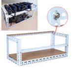 Оригинал DIY Шахтер Mining Frame Miner Rig Frame Чехол 10 GPU Чехол 130 см * 35 см * 35 см