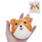 Оригинал Squishy Puppy Bun Slow Rising Toy с упаковкой Cute Animals Collection Decor Toy