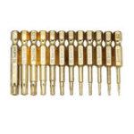 Оригинал Broppe 12шт Gold T5-T40 50 мм Магнитный торр Отвертка Биты 1/4 дюймов Hex Shank