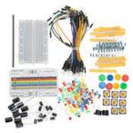 Оригинал Резисторный зуммер Макетная LED Dupont Cable Electronic Element Starter Набор Для Arduino