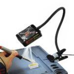 Оригинал Пайка Вытяжной вентилятор для железа Припой Вытяжной вентилятор для удаления дыма Exhauster с подсветкой LED