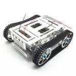 Оригинал DIY Алюминиевый сплав Tracked RC Robot Chassis Tank Авто с комплектом гусеничных