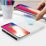 Оригинал 5W QI Беспроводная зарядная панель Dual Use Desktop Charger для iPhone X 8 Plus