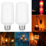Оригинал E26 7.5W SMD2835 96LEDs 1800-2000K Общие режимы освещения ЛегкийShree Yellow Flame Легкий Bulb