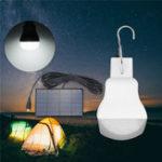 Оригинал Портативный Солнечная Powered Светодиодный Bulb На открытом воздухе Аварийная палатка Кемпинг Лампа для Рыбалка Пеший туризм