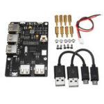 Оригинал USB2.0ВыходныепортыЭлектронныекомпонентыPi Supply & USB HUB Плата расширения для Raspberry Pi