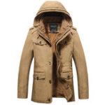 Оригинал Зимний толстый флис с капюшоном карманы На открытом воздухе Теплый куртка Parka