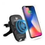 Оригинал FLOVEME светодиодный 360 градусов вращения Qi беспроводной автомобильный зарядный телефон держатель для iPhone X Samsung S8