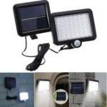 Оригинал Солнечная Мощность 56 Белый LED PIR Движение Датчик Свет наводнений Водонепроницаемы На открытом воздухе Сад Безопасность Лампа