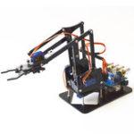 Оригинал DIY 4DOF Ручка робота 4 Ось акрилового вращающегося Механический Ручка робота с Arduino UNO R3 4PCS SG90 Сервопривод
