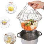 Оригинал HonanaHN-KH03Складнойпорошокдляполоскания пара Fry French Chef Basket Волшебный Корзина сетка корзины сетчатый нетто-кулинария Инструме