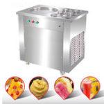 Оригинал 110V / 220V Коммерческий жареный йогурт Мороженое машина Фруктовый мороженое Roll Maker W / 6 Ведра