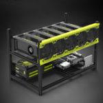 Оригинал VEDDHA V3D ETH ZEC Алюминиевый штабелеры Miner Mining Чехол Поддержка 6 GPU Dual Power