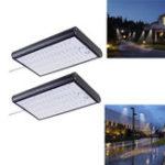 Оригинал Солнечная Powered 56 LED Motion Датчик Street Light 4400mAh 450lm Водонепроницаемы Стена Лампа для На открытом воздухе Двор