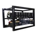 Оригинал 8 GPU Aluminium Open Air Mining Rig Stackable Frame Чехол Для ETH Ethereum