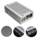 Оригинал Алюминиевый серебристый Чехол Металлический корпус для Raspberry Pi 3 Model B/2 Model B/B+