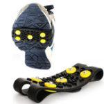 Оригинал Ooutdoor 5 Шипованные Anti-Slip Ice Grip Spike Зимние прогулки Спортивная обувь Overshoes