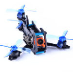 Оригинал Awesome Dragonfly 110 Y4 110mm RC FPV Racing Дрон W / Omnibus F3 OSD BLheli_S 10A 25mW 48CH 600TVL