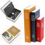 Оригинал Металлическая сталь наличными Безопасный скрытый английский словарь деньги Коробка Книги для хранения монет Safe Secret Piggy Bank