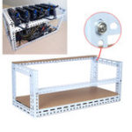 Оригинал DIY Шахтер Mining Frame Чехол Mining Rig Frame Чехол для 12 GPU 140 см * 35 см * 35 см