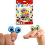 Оригинал Большие глазные пальцы Куклы Пластиковые кольца с волнистыми глазами Партийные предпочтения Ассортимент цветов Pinata Fillers