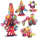 Оригинал 40PCSМагнитныестроительныеблокиSetConstruction DIY 3D-Кирпич для детей Дети Обучающие игрушки для подарков