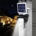 Оригинал Солнечная Powered PIR Motion Датчик LED Flood Light Дистанционное Управление Водонепроницаемы Безопасность На открытом воздухе Стена Лампа