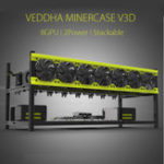 Оригинал Open Mining Miner Frame Stackable Чехол Для VEDDHA V3D 8 GPU ETH ZEC ZCash