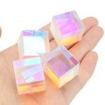 Оригинал 4Pcs 23mm Dichroic Cube Дефект RGB Оптическая Призма Преподавание DIY Украшение
