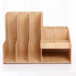 Оригинал Съемный DIY Деревянный рабочий стол Multi Trays Органайзер Хранение стеллажа Коробка Документы Файлы для документов Держатель