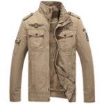 Оригинал Mens Winter Amry Green Военный Куртка из хлопкового бомбардировщика S-4XL
