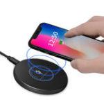Оригинал BakeeyKD0210WQIБеспроводнаябыстрая зарядка Pad Smart адаптер зарядного устройства для iphone X 8 / 8Plus Samsung S8