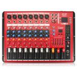 Оригинал EL M SMR801 8-канальный профессиональный Bluetooth Karaoke KTV Audio Sound Mixing Mixer Усилитель