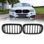 Оригинал PairMatteBlackABSАвтоПередняя решетка для почек для BMW F15 F16 X5 X6 2013-2017