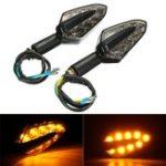 Оригинал Пара 12V LED мотоцикл Индикатор поворота индикатора Turn Turn Amber Лампа Лампа