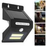 Оригинал 5W Солнечная Мощность COB LED PIR Motion Датчик Настенный светильник USB аккумуляторная Водонепроницаемы На открытом воздухе Сад Двор