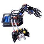 Оригинал SunFounder DIY Роботизированная рука Набор 4-осевая Сервопривод Контрольная ручка с проводным контроллером для Arduino Uno R3