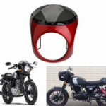 Оригинал 7inch Motorcycle Retro Cafe Racer Handlebar Fairing Windshield & Mounting For Harley