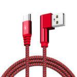 Оригинал Bakeey 90-градусный USB Type C 2A Быстродействующий зарядный кабель для передачи данных 1M для Samsung S8 Xiaomi Mi6 Huawei
