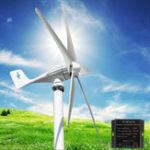 Оригинал 12V / 24V 500W Горизонтальная жилая ветряная турбина 5 Nylon Fiber Лопасти + Контроллер