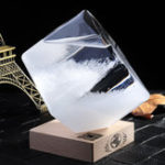 Оригинал Прогноз погоды Хрустальное штормовое стекло Cube Форма Форкастер Бутылка Барометр Декор Подарок